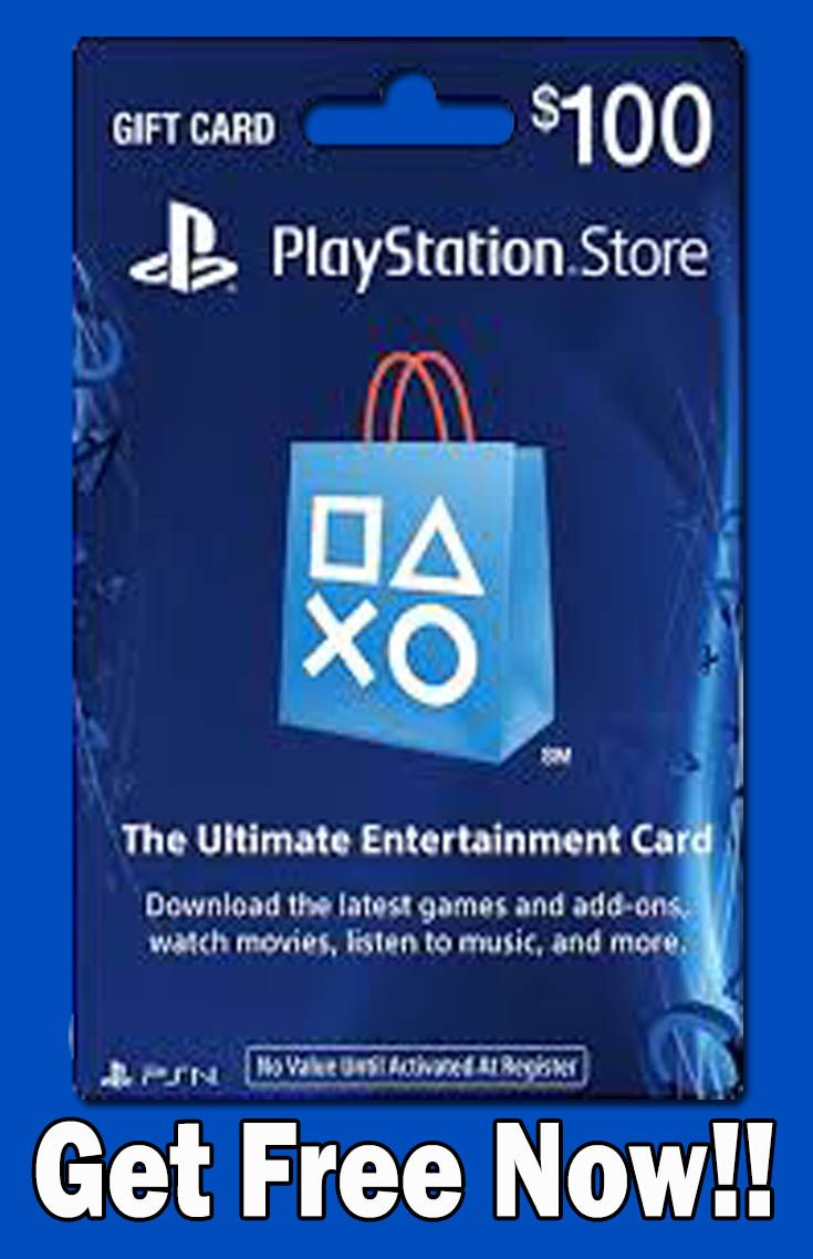 Get free 100 playstation gift card code ps4 gift card