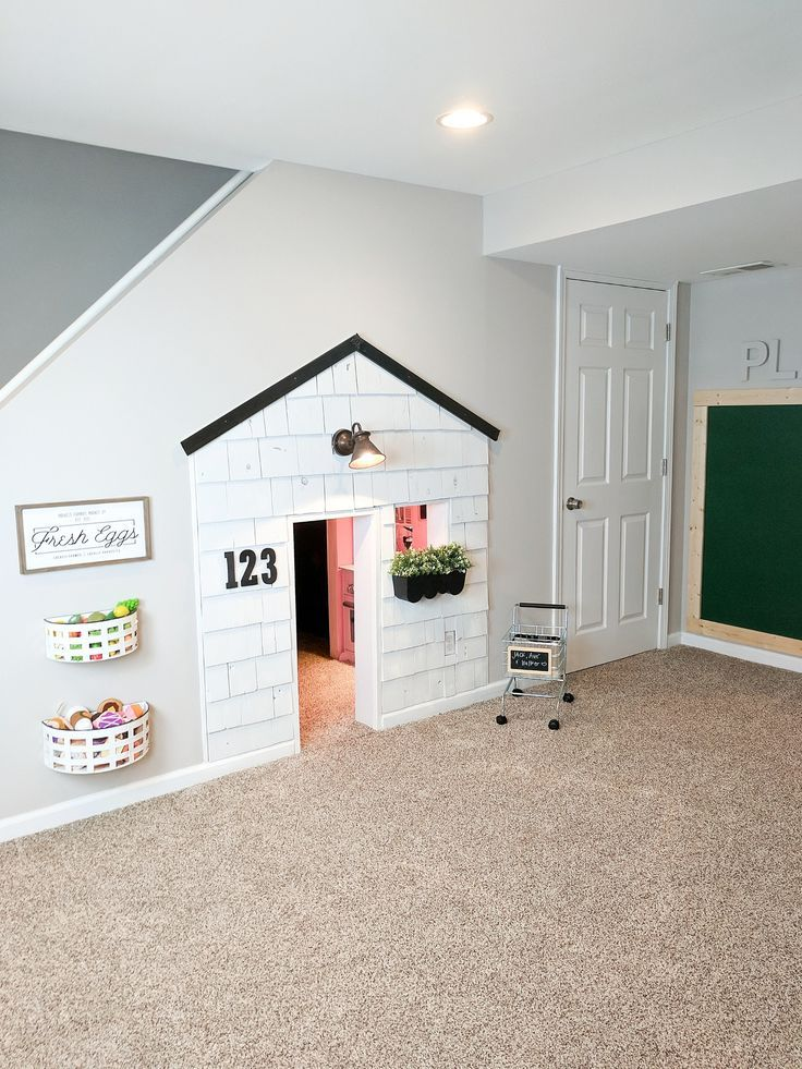 under stairs playhouse kid s playroom pinterest playroom rh pinterest com