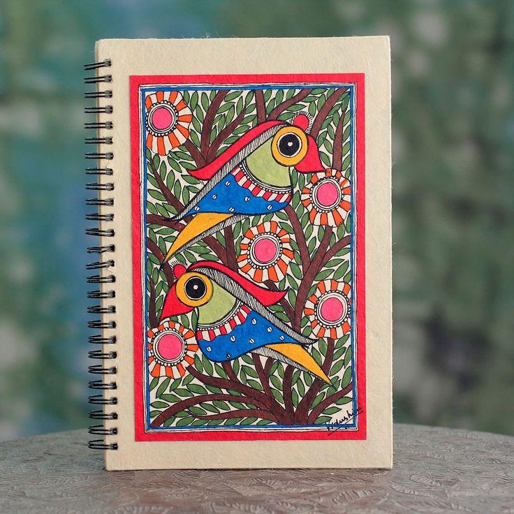 Novica Handmade 'Breaking Dawn' Madhubani Journal