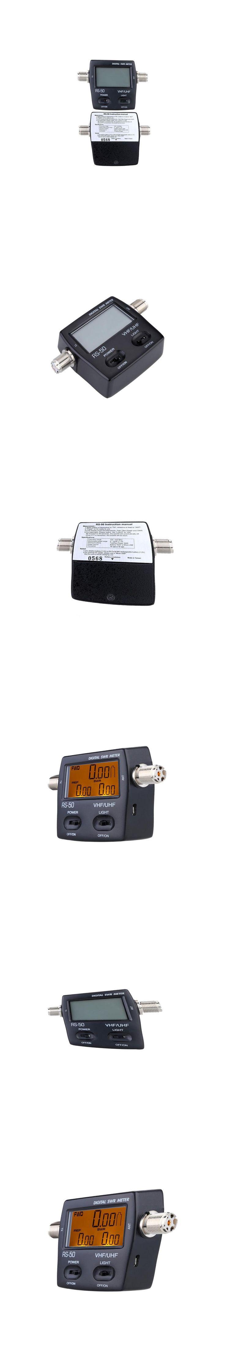 Digital Power Meter SWR Standing Wave Ratio Energy Meters LED Backlight Wattmeter Single Phase120W for HAM UHF/VHF USB Interface