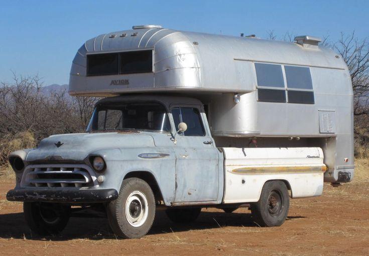 Chevrolet Truck with Avion Camper   Truck Camper HQ