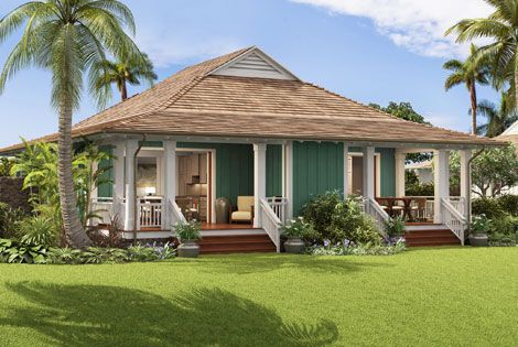 Kukuiula club bungalows condo style homes kauai for Hawaiian plantation architecture