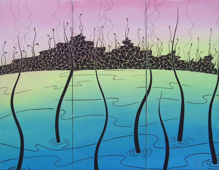 Pittura   Elisa Viotto   lake   acrylic on canvas