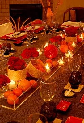 chinese new year table decorations