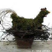bloemschikken met mos figuren bloemstuk rond pasen bloemstukken maken
