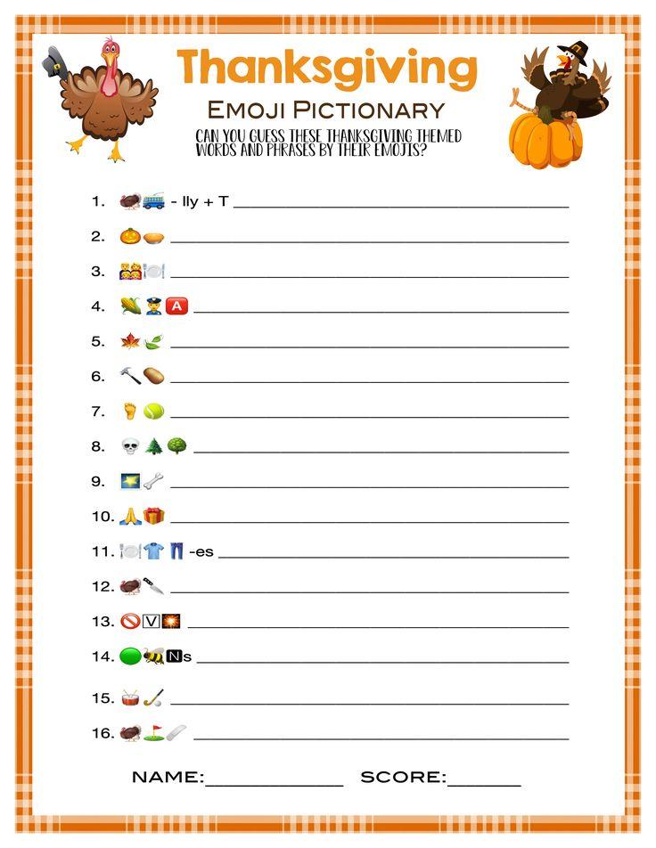13 Thanksgiving Games Friendsgiving Games Trivia Family