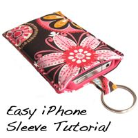 Finally, here it is! Several people have asked for a tutorial for an iPhone sleeve. This is a really simple project, but sometimes it's nice to get a small project DONE! Download here: Easy iPhone Sleeve Tutorial PDF This sleeve will fit the iPhone 4 with a lightweight case like the Incipio Feather or the Incase Snap Case.