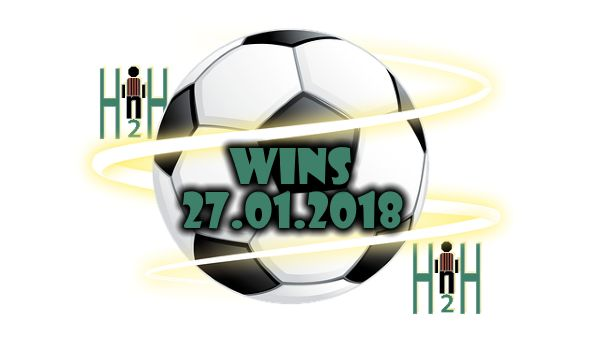 Free Soccer Picks H2H Free Soccer Picks H2H, H2H Stats for 27.01.2018  WINS Suggestions for Today Free Soccer Picks H2H is our section for soccer h2h stats analysis, all free soccer picks H2H stats are analyzed, only the best are selected and delivered to our visitors, Here are Todays Free Soccer Picks H2H, choose wisely, not always H2H Stats make winning predictions. Our team is analyzing all Free Soccer Picks H2H for the next days, in order to bring you the best Free Soccer Picks H2H, also…