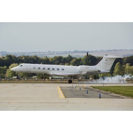 A Swedish Air Force VIP Gulfstream jet Canvas Art - Timm ZiegenthalerStocktrek Images (34 x 23)