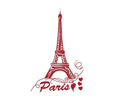 naklejka PARIS w 4walls na DaWanda.com