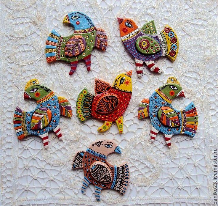 """Birds - bird art - Керамические Броши """"Птицы"""" - керамика ручной работы,Керамика,сова,совы"""