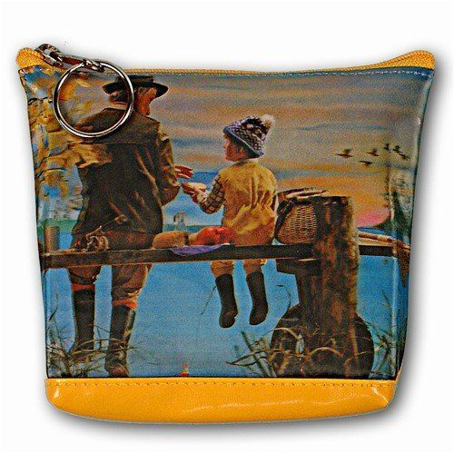 Lenticular Purse, 3D Lenticular Images, Fishing on the Bridge, Grandpa and Grandson, SSP-483-Pavia Lantor. $8.50. Ease to carry and best 3D Lenticular Gift Ideas.. Optional Shoulder Strap turning this coin purse to stylish carrying purse / bag for Children. vinyl. Purse measures 5 inch. X 4 inch. x 1.5 inch.. 3D images or Lenticular Changing Pictures. YKK Zipper with YKK puller (Best quality of zipper). Save 23%!