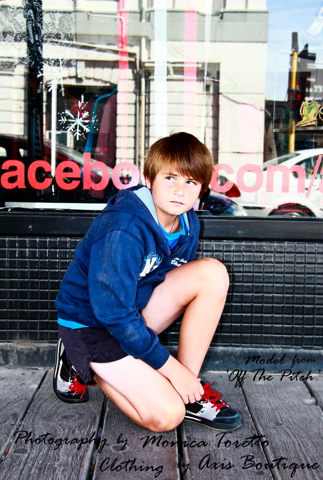 Young Ryan may only be 11 years old but he's almost like an old pro - such a pleasure to work with. On location shoot for a local clothing store in Invercargill. 2013