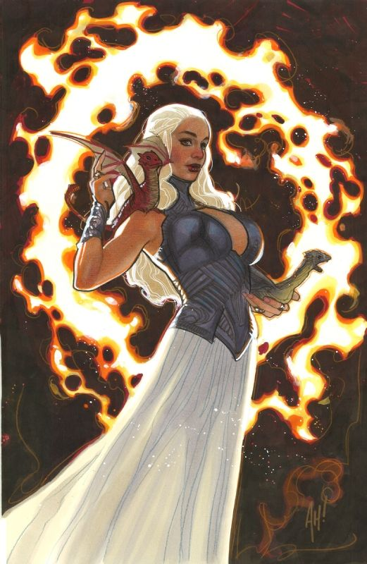 Daenerys Targaryen (Game of Thrones) by Adam Hughes Comic ...