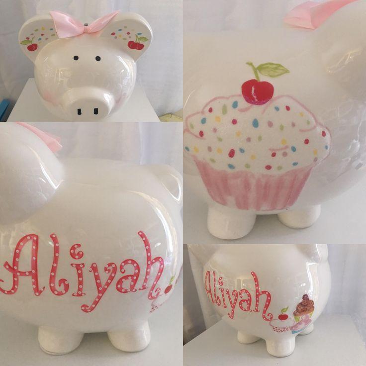 Baptism Gift Girl Christmas Ornament For Baby Girl Baptism: 335 Best Personalized Piggy BAnks Images On Pinterest