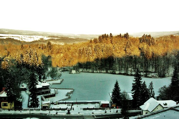 Medve-tó télen, Szováta / Lacul Ursu pe timpul iernii, Sovata / Bear Lake in winter time, Sovata