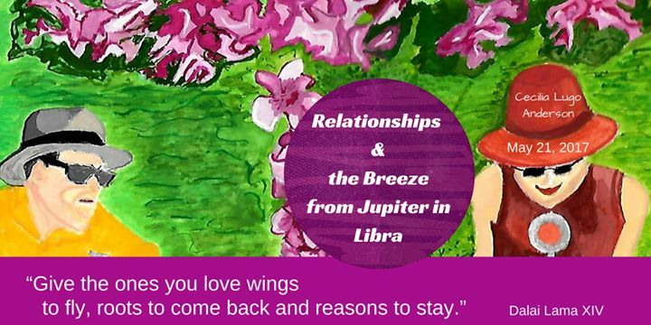 Relationships and the breeze from Jupiter in Libra @ Awareness Institute - 21-May https://www.evensi.com/relationships-and-the-breeze-from-jupiter-in-libra/204861473