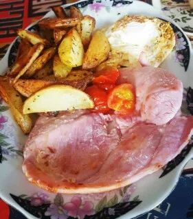 Gammon egg n chips