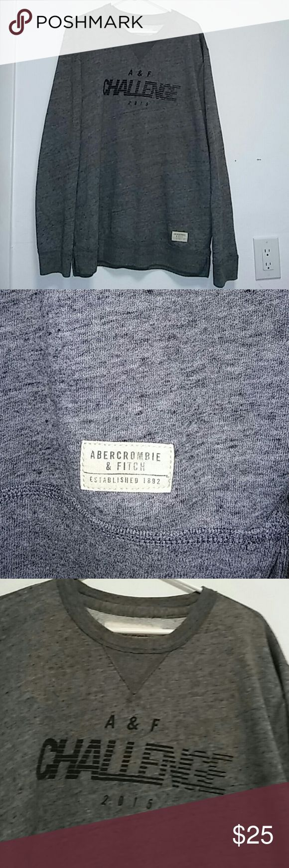 Abercrombie Men's Crewneck Sweater Sz XXL Abercrombie Men's Crewneck Challenge Sweater Sz XXL. Gray Abercrombie & Fitch Sweaters Crewneck
