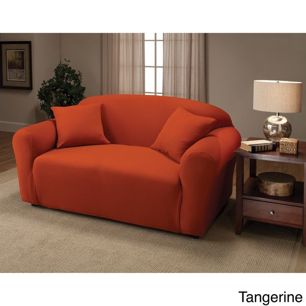 Stretch Jersey Loveseat Slipcover | Overstock.com Shopping - The Best Deals on Loveseat Slipcovers