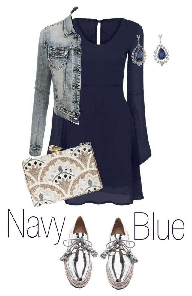"""Blue"" by valeria-verde on Polyvore featuring Loeffler Randall, LE3NO, KOTUR, women's clothing, women's fashion, women, female, woman, misses and juniors"