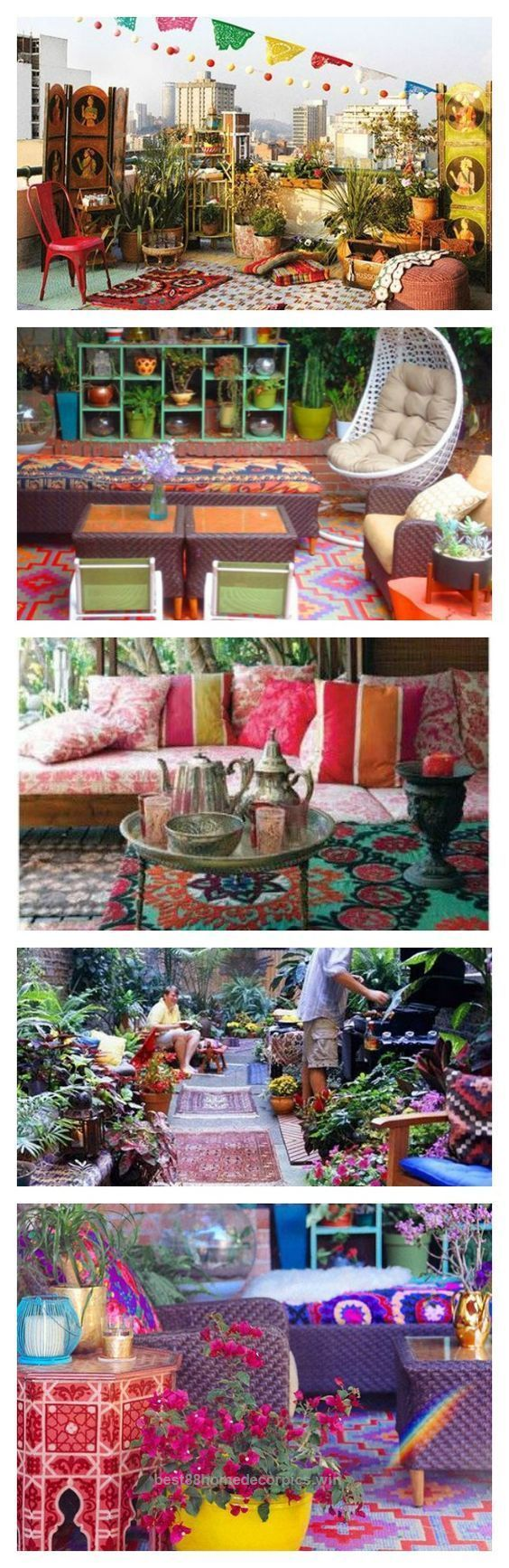 Lovely Colorful Bohemian Outdoor Spaces & How to Get the Look {bohemian backyards, porches and patios}  The post  Colorful Bohemian Outdoor Spaces & How to Get the Look {bohemian backyards, …  ..