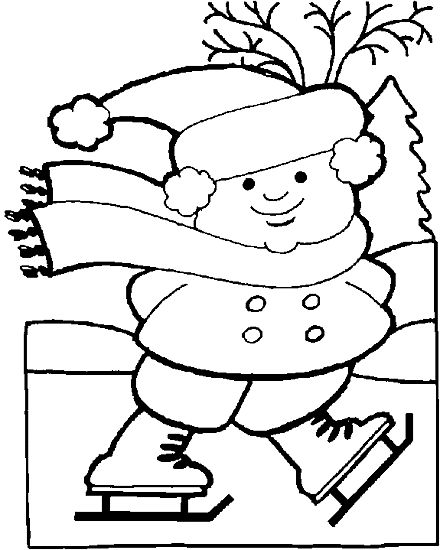 winter Coloring Pages kindergarten | Winter Holiday ...