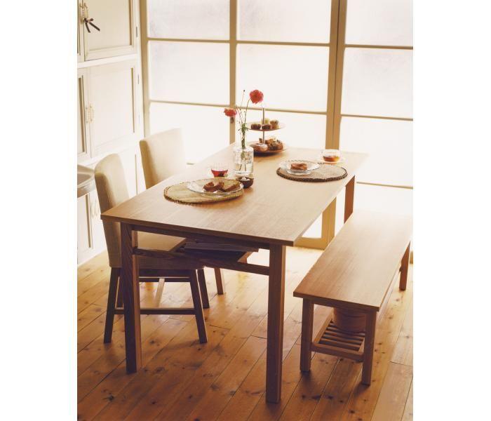 POTHOS DINING TABLE ポトス ダイニングテーブル  POTHOSシリーズは居心地だけでなく、使い心地も北欧スタイル。 自由な使い方を連想させる素朴なデザインです。photo3