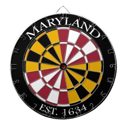 Maryland Flag Dartboard - tap to personalize and get yours