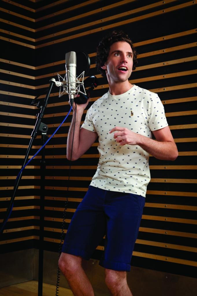 Mika in clothes he designed for Belgian/Luxembourg clothing store JBC Spring 2013