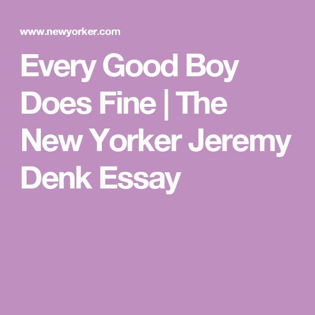 Every Good Boy Does Fine | The New Yorker  Jeremy Denk Essay