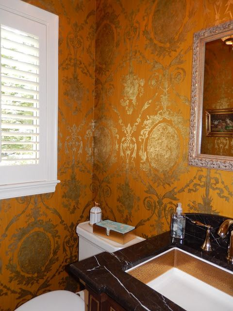 1000 images about bath and powder rooms on pinterest for Tangerine bathroom ideas