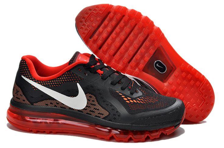 Cheap Nike Air Max 2014 Black Red White Men's Running Shoes