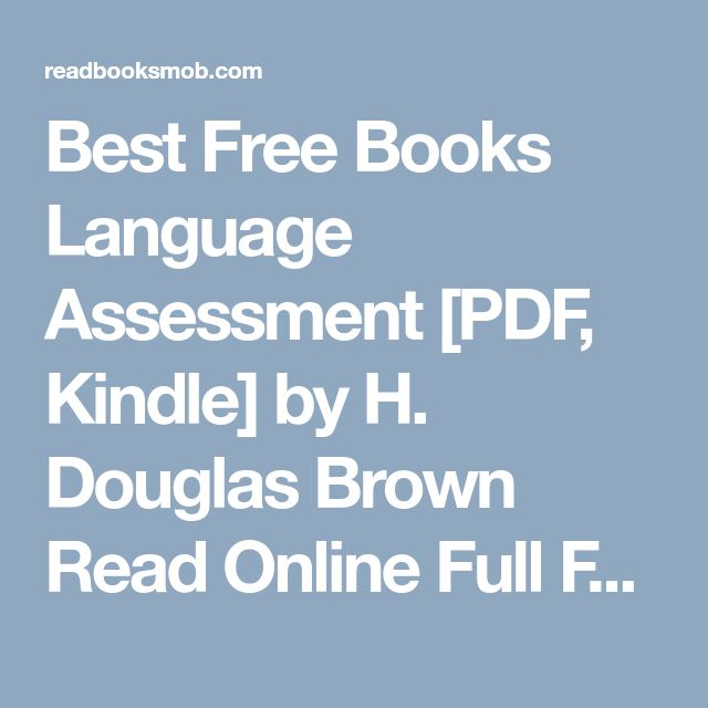 41 best my books images on pinterest best free books language assessment pdf kindle by h douglas brown read fandeluxe Image collections