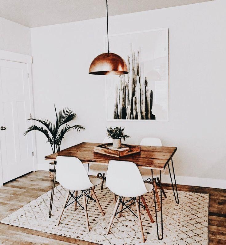 bohemian minimalist dining room | Minimalist dining room, Minimalist dining room decor, Boho dining room