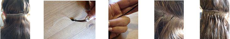 100S Micro rings/loop hair 16inches Human Hair Extensions #613