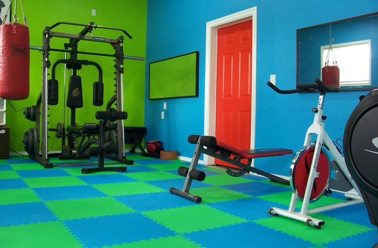 "Eco-Soft Tiles - Interlocking Foam Mats ($30 for eight 2'x2' (1/2"" thick) mats that will cover 4'x8' space for treadmill) Free Shipping"