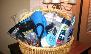 Deployment Idea:  Put together a Welcome Home Basket. I love this idea and know exactly  what to put  in it