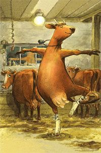 Sven Nordqvist illustrator makes the life of the cow Mama Mu visible for us.