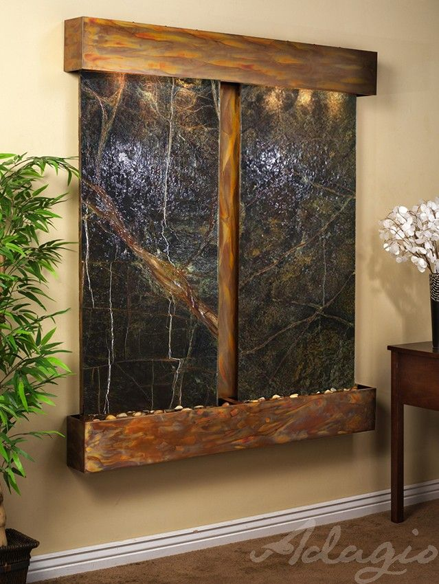 Indoor Wall Water Features - Aspen Falls Marble Wall Water Feature