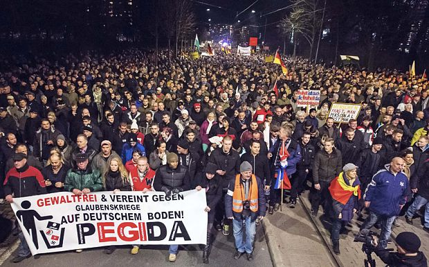By Theodore Shoebat Five thousand people in Germany gathered together to fight against the Islamic invasion of Germany. Eight hundred liberals came to attack them, but the police showed up and the liberals and the officers clashed. Here is the report: Police clashed Saturday with activists who took to the streets of Berlin to shout …STAY STRONG GERMANY__GO!