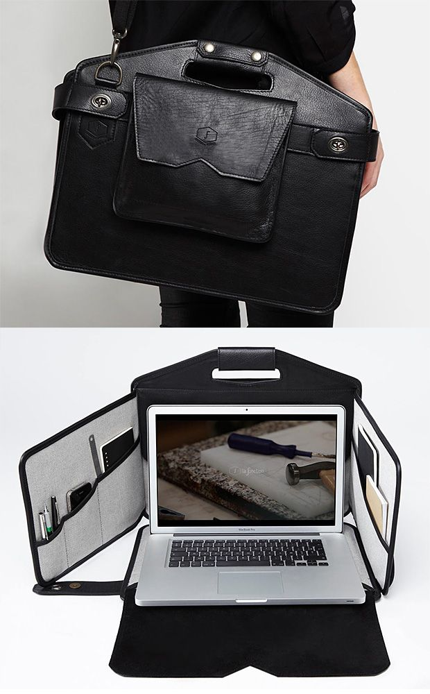 La Fonction Mobile Workstation at werd.com - open up the bag and you can work anywhere. This is pretty cool.