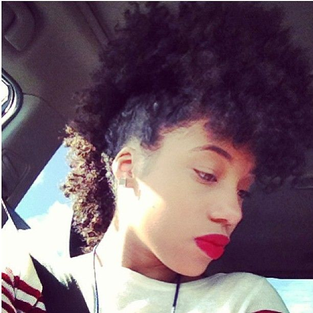 Excellent 1000 Images About Natural Frohawk On Pinterest Updo Naturally Short Hairstyles For Black Women Fulllsitofus