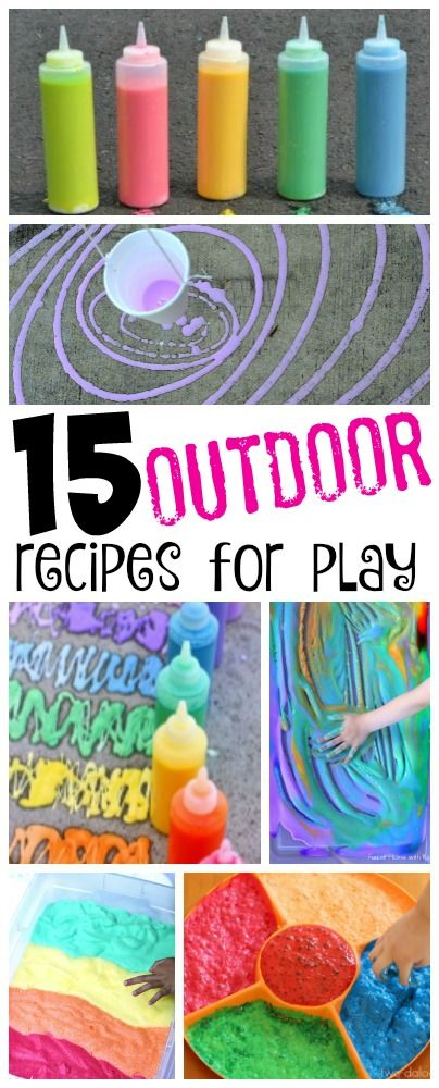 15 fabulous outdoor recipes for play to keep kids happy and busy outside!