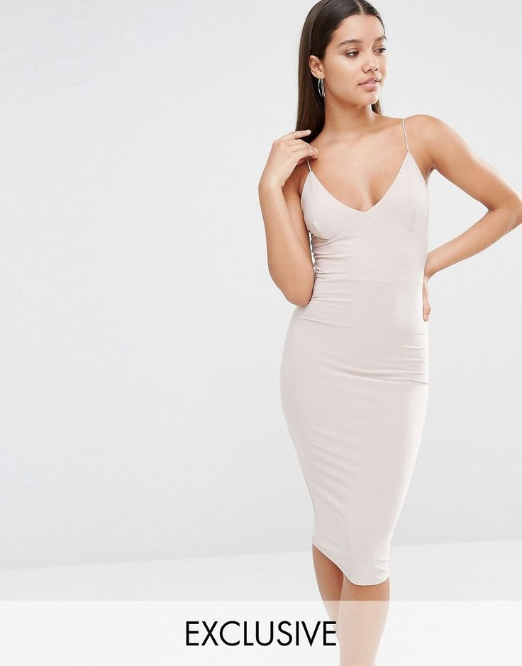 Image 1 of Club L Midi Dress With Cami Strap