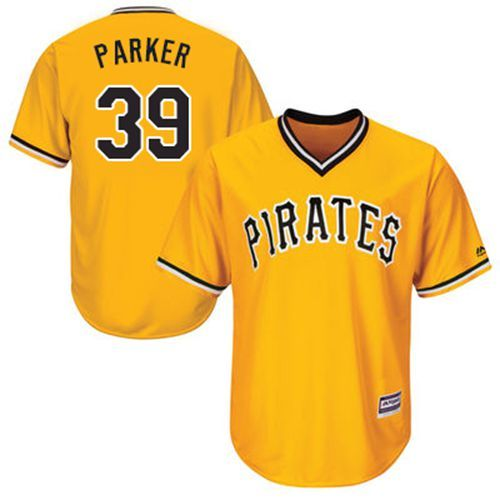 pirates 39 dave parker gold new cool base stitched mlb jersey
