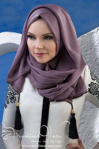 MW Hijab with Tassels Color: Trend Vizon