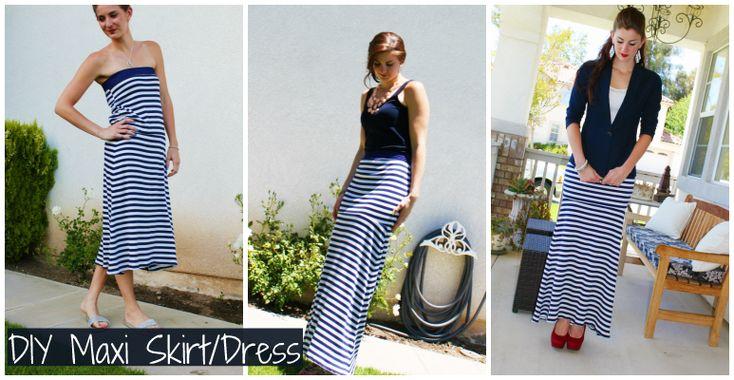 Home | Crafty | DIY Maxi Skirt & Dress  DIY Maxi Skirt & Dress
