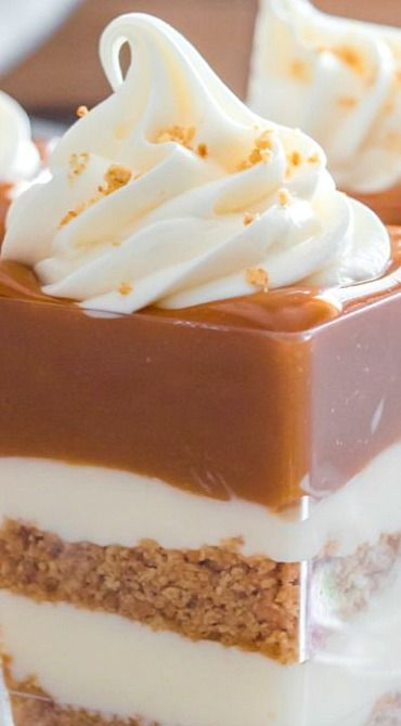 No-Bake Caramel Cheesecake Shooters ~ They are easy, fast and visually stunning.