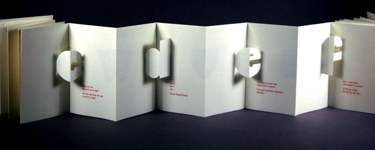 Folded 3D paper card: 3D Paper, Paper Craft, Bookbinding Ideas, Alphabet Letters, Ideas Cards, Paper Cards, Folded 3D
